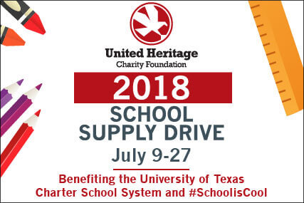 2018 United Heritage School Supply Drive