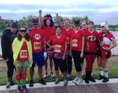 Team United Heritage at the 2013 CASA Superhero Run