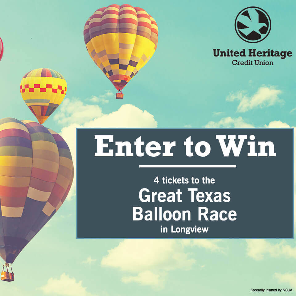 Image of hot air balloons with enter to win text