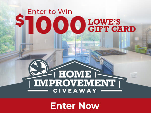 Home Improvement Giveaway promo image